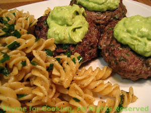 French Burgers with Avocado Sauce