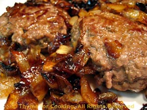 Beef Patties with Caramelized Onions