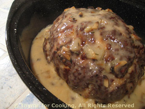 Meat Loaf with Creamy Mushroom Sauce