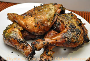 chicken herbs cooked