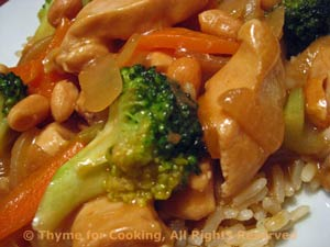 Stir-Fried Chicken with Broccoli and Peanuts
