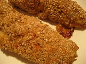 Baked Sesame Chicken Strips