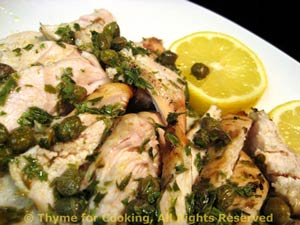 Grilled Chicken Breasts Piccata