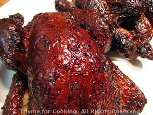 Grilled Cornish Hens (Poussin) with Molasses Glaze
