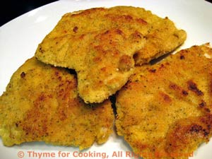 Turkey Cutlets with Mustard Crust