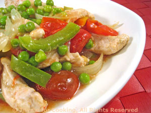 Spicy Turkey with Peas and Peppers