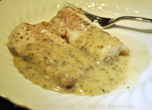 cod with white wine mustard sauce lovely fish from thyme