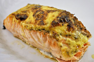 Baked Salmon with Lemon Mayonnaise