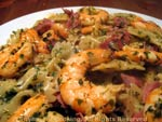shrimp and garlic pasta