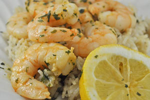 Sautéed Shrimp (Prawns) in Lemon and Garlic Butter