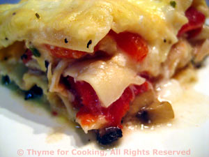 Mushroom, Pimento and Chicken Lasagne