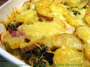 Potato, Ham and Broccoli Gratin