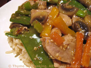 Stir-fried Pork with Snow Peas