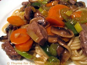 Beef and Mushroom Lo Mein