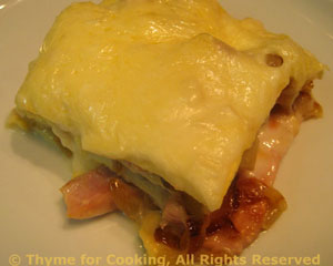 Lasagne with Ham and Caramelized Onions