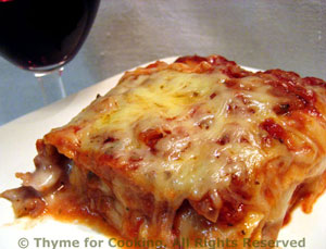 Chicken, Roasted Red Pepper And Goat Cheese Lasagna Recipes ...