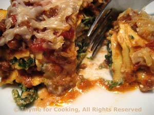 Bolognese Lasagne with Spinach