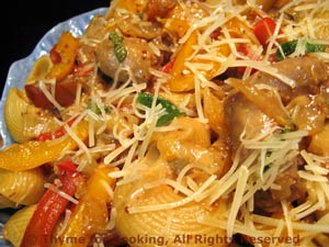 Warm Pasta with Sausage and Peppers