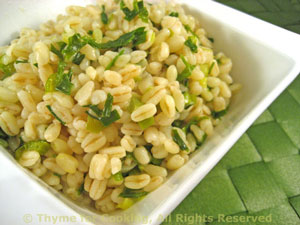 Barley with Green Garlic
