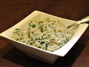 Basmati Rice with Lemon and Chives