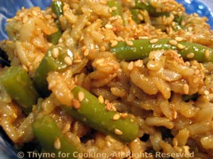Warm Green Bean and Brown Rice Salad