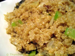 Quinoa with Fried Onions and Celery