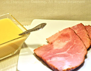 Roast Ham with Mustard Sauce