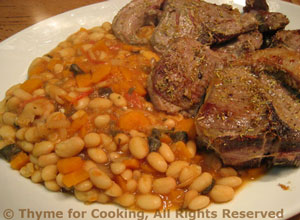 Lamb Chops with White Beans