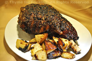 Slow-Roasted Moroccan Leg of Lamb
