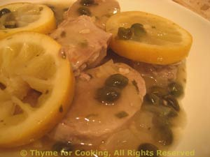 Pork Tenderloin with Lemon and Capers
