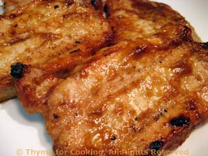 Grilled Pork Chops with Peanut Marinade