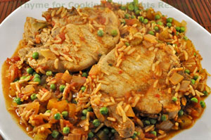 Pork Chops with Spanish Rice