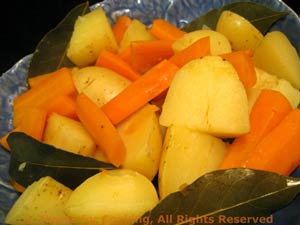 Potatoes and Carrots with Bay Leaves