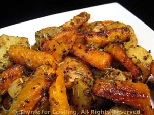 Grilled Potatoes and Carrots, Dijon
