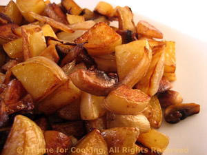 Sauteed Potatoes Mushrooms And Onions
