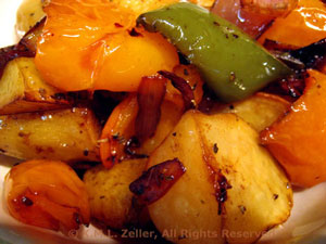 Grilled Potatoes, Peppers, and Onions