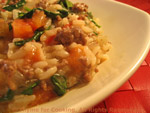 beef spinach risotto