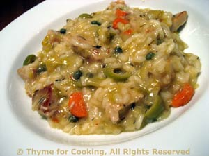 Pork Risotto with Olives and Capers