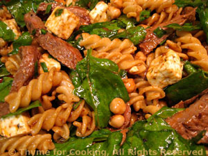 Beef, Chickpea and Feta Pasta Salad