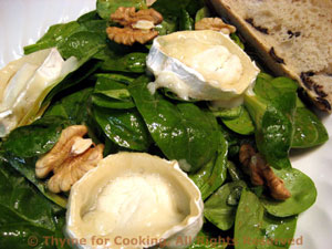 Spinach Salad with Warm Chevre
