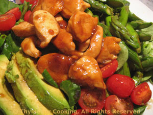 Chicken, Asparagus and Avocado Salad