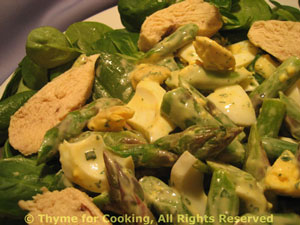 Chicken, Spinach and Asparagus Salad