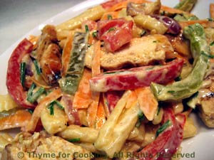 Chicken and Grilled Pepper Pasta Salad