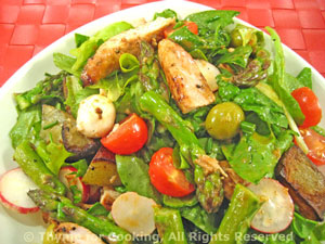 Chicken Salad with Potatoes, Asparagus
