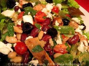 Salad with Turkey, Beans and Feta