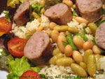 sausage rice salad