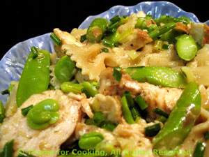 Chicken Pasta Salad with Spring Vegetables