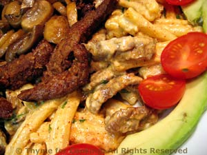 Caesar Pasta Salad with Flank Steak
