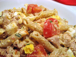 Tuna Pasta Salad with Mustard Yogurt Dressing