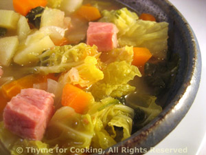 Cabbage Soup with Ham and Vegetables